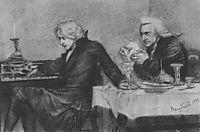 Salieri pours poison into a Mozart-s glass, 1884, vrubel