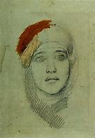 Woman-s Head (Emily L. Prahova), 1884, vrubel