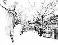 Yard at winter, c.1904, vrubel
