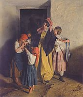 After Confirmation (The departure of the godmother) , 1859, waldmuller