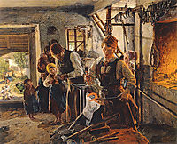 At the farrier, 1854, waldmuller