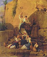 At the fountain in Taormina , 1846, waldmuller