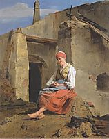 At the ruins of the fire , 1847, waldmuller
