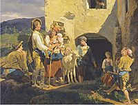 The bailout , 1859, waldmuller
