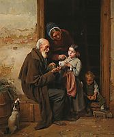The charity , 1865, waldmuller