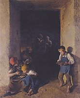 Children received their breakfast , 1859, waldmuller
