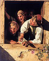 Children at the Window , 1853, waldmuller