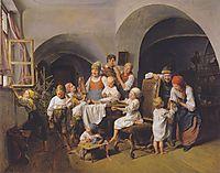 Christmas morning , 1844, waldmuller