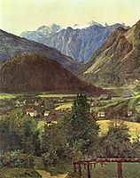 Dachstein from the place of Sophie , 1835, waldmuller