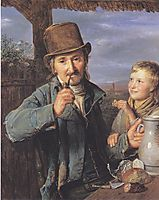 The day laborer with his son, 1823, waldmuller
