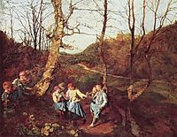 Early Spring in the Vienna Woods , 1861, waldmuller