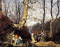 Early Spring in the Wienerwald , 1864, waldmuller