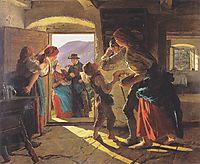 Entrance og the newlyweds , 1859, waldmuller