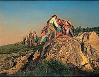 The halted Pilgrimage (The assistance) , 1853, waldmuller