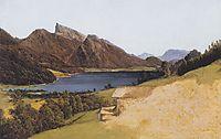 Lake Fuschel with Schafberg , 1835, waldmuller