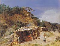 Lime kiln in the Hinterbrühl , 1845, waldmuller
