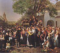 Lower-Austrian Peasant Wedding , 1843, waldmuller