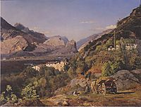 Mountains of Arco at Riva , 1841, waldmuller