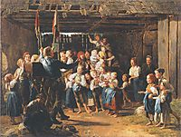The peep-show man , 1847, waldmuller