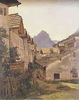 Pfamgasse in St. Wolfgang , 1835, waldmuller