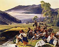 The pilgrims resting, 1859, waldmuller