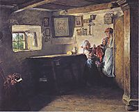 The request of the child (the old chest) , 1860, waldmuller