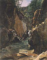 Rettenbach-gorge at Ischl , 1831, waldmuller