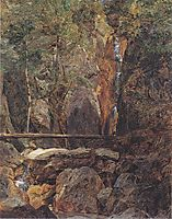 Rettenbach wilderness near Ischl (The Hohenzollern waterfall in Jainzental) , 1832, waldmuller