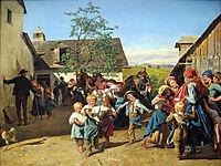 Return from the Church Fair , 1859, waldmuller