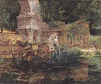 The Roman ruins in Schoenbrunn , 1832, waldmuller