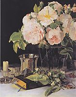 Roses in glass, 1831, waldmuller