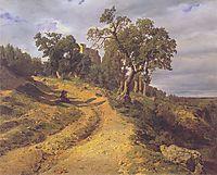 The ruin Lichtenstein at Mödling , 1848, waldmuller