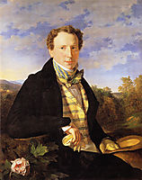 Self portrait at the age of 35 , 1828, waldmuller
