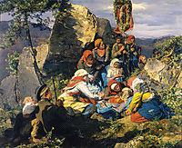The sick pilgrim, 1859, waldmuller