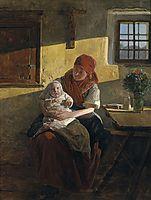 Sunday rest , 1859, waldmuller