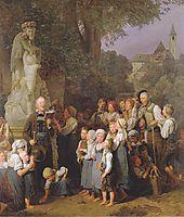 The veneration of St. John Nepomuk , 1844, waldmuller