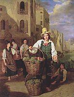 Venetian fruit seller , 1826, waldmuller