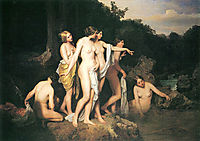 Women bathing at the brook, 1848, waldmuller