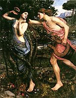 Apollo and Daphne, 1908, waterhouse