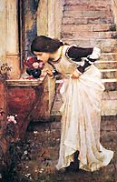 At the Shrine, 1895, waterhouse