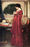 The Crystal Ball, Restored Version, 1902, waterhouse