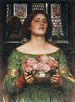 Gather Ye Rosebuds while ye may, 1908, waterhouse