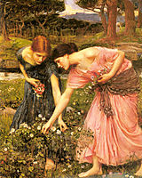 Gather ye Rosebuds while ye may, 1909, waterhouse