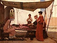 A Grecian Flower Market, 1880, waterhouse