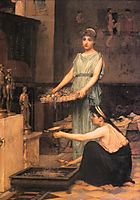 The Household Gods, 1880, waterhouse