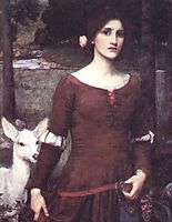 The Lady Clare, 1900, waterhouse