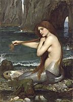 A Mermaid, 1901, waterhouse