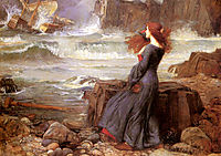 Miranda The Tempest, 1916, waterhouse