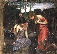 Nymphs Finding the Head of Orpheus, 1900, waterhouse