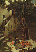 The Orange Gatherers, 1890, waterhouse